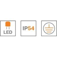 WATC WT305 СВ-К LED IP65 8W ОВАЛ СЕРЫЙ