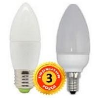 "LED лампа светодиодная 6W С37 E27 свеча ""Premium"" 570lm 4000К матовое стекло чип: Epistar ""LedEX"" 100147"