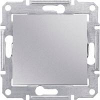 Выключатель 1-клавишный, алюминий -  Sedna
