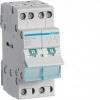 Переключатель I-0-II с общим выходом снизу 2-полюсный 32А/230В 2м Hager SFТ 232